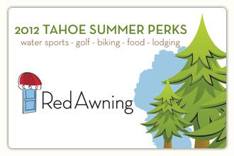 2012 Tahoe Summer Perks Card