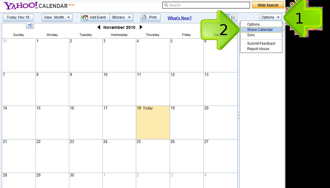 Yahoo Calendar | New Calendar Template Site