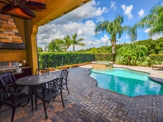 RD849M-5/4.5 w/Pool/Spa, Game Room, BBQ, Golf View Near Disney