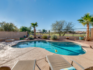 Sparkling Heated Pool with Golf Views in Johnson Ranch 4 Bed, One Down - image