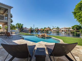 HUGE Luxury Waterfront Home w/ THEATER, GAME ROOM & SPARKLING POOL