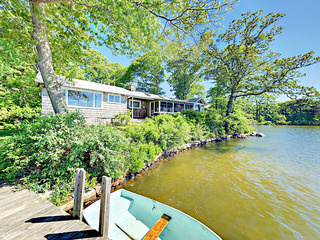 Classic 4BR on Oyster Pond w/ Dock & Boat Fleet