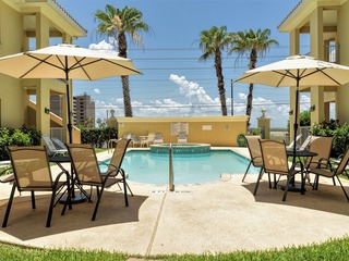 Las Verandas 101: POOLSIDE condo in GATED complex! Combine with #102 next door!