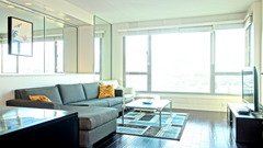 Luxury Furnished 1 Bedroom 11C with Bay Bridge View and Garage Parking