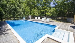 East Hampton House Pool & Fireplace