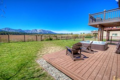 Tahoe Keys property with surrounding mountains